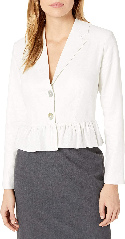Nanette Nanette Lepore Women's Ls Shimmer Linen Jacket W/Pem