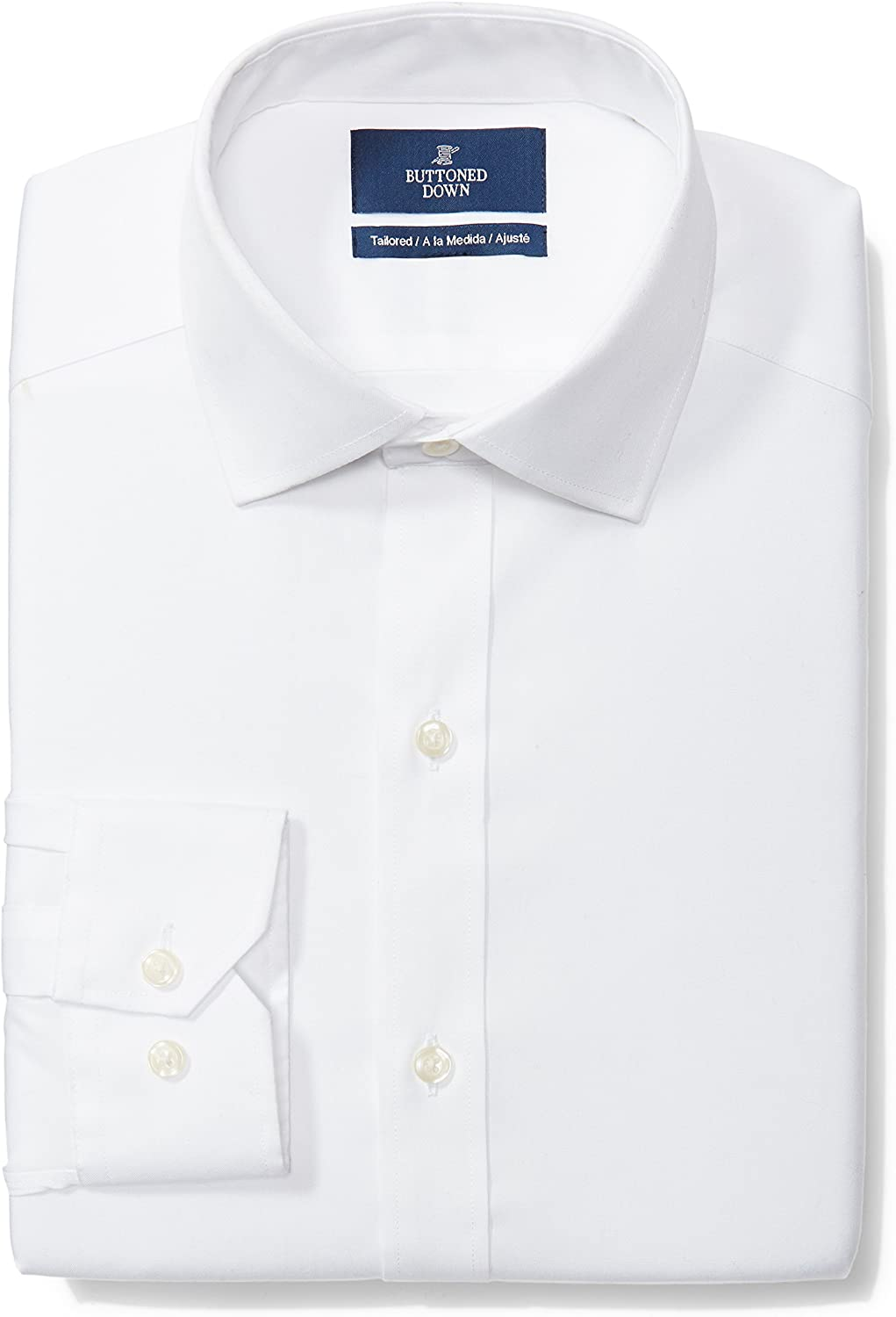 Buttoned Down Men's Tailored Fit Solid Super sale Collar Non-Iron Limited price sale Spread Dr