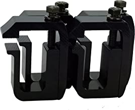 GCi STRONGER BY DESIGN G-1 Clamp for Truck Cap/Camper Shell Black Powder Coated (Set of 4). Made with Structural Aluminum to Ensure Quality and Strength.