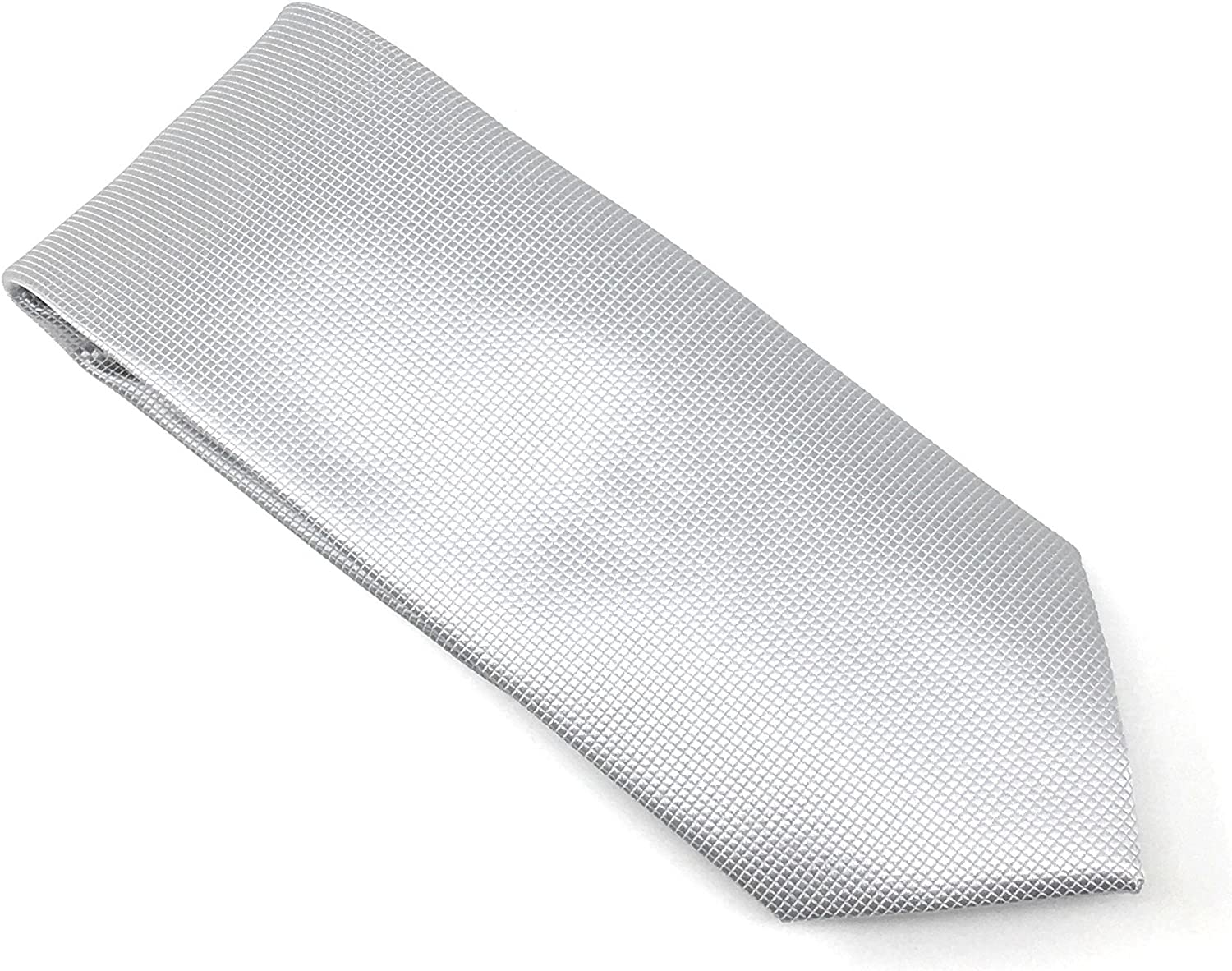 Ice Pindot 100% Silk Woven Necktie Set with Pocket Square