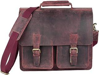 Jahn-Tasche Große Aktentasche Lehrertasche Größe L aus Büffel-Leder, für Damen und Herren, Jahn-Tasche 420-n