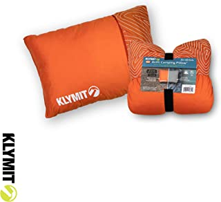 Klymit Drift Camping Pillow, Reversible Cover for Travel and Sleep, Shredded Memory Foam Comfort with Durable Shell