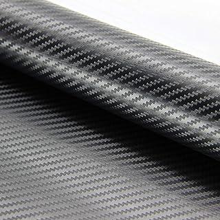 ZOEON 2 Rollen 3D Autofolie Carbon Folie Aufkleber 1520 x 300 mm DIY Aufkleber Wrapping mit Luftkanäle für Auto