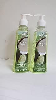 2 PK OF SIMPLE PLEASURES COCONUT LIME HAND SOAP 13.5 OZ PUMP TOP BOTTLE 27 OZ. TOTAL