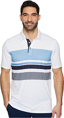 GO GOLF Slice Engineered Stripe Polo