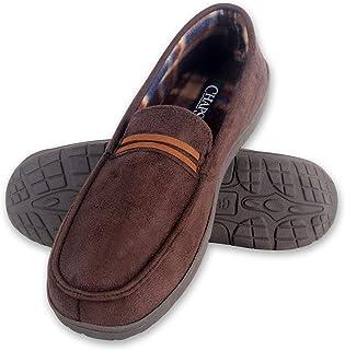 حذاء شباشب للرجال من تشابس حذاء بدون كعب مصنوع من إسفنج ميموري فوم داخلي خارجي غير قابل للانزلاق