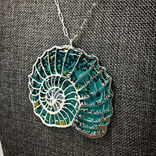 Recycled Tin Nautilus Pendant Necklace