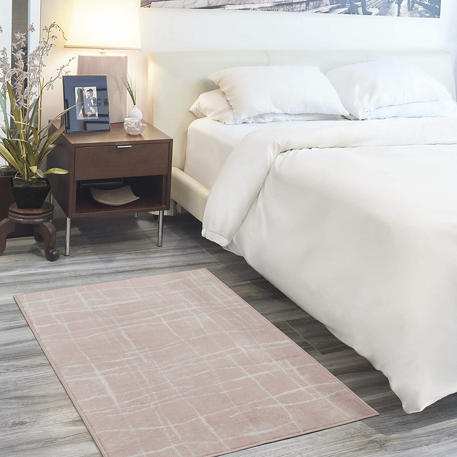 Nourison Whimsicle Modern Abstract 舗 Pink 低価格 3'x Area Ivory 5' Rug