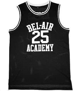 MOLPE Banks #25 Bel Air Academy Basketball Jersey S-XXXL Black