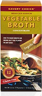 Savory Choice Liquid Reduced Sodium Vegetable Broth Concentrate, 4.2-Ounce Boxes (Pack of 4)