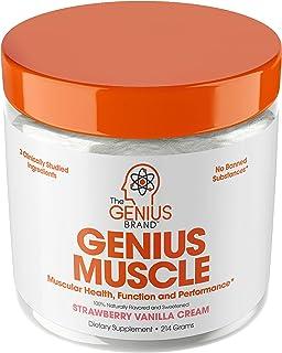 Genius Muscle Builder - بهترین بهینه ساز رشد طبیعی آنابولیک برای مردان و زنان | مکمل تمرین کننده وزن واقعی برای چربی فولادی | پاک کردن Plateaus و Gain Mass در 7 روز با HMB، PA و Peak02