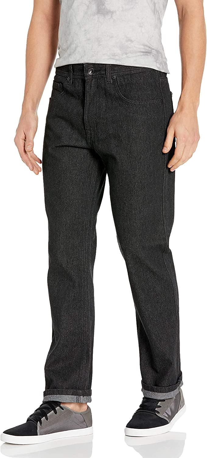 Southpole Men's Big and Tall Pants Long in Thick Bull Twill Straight Fit in Denim Fabric