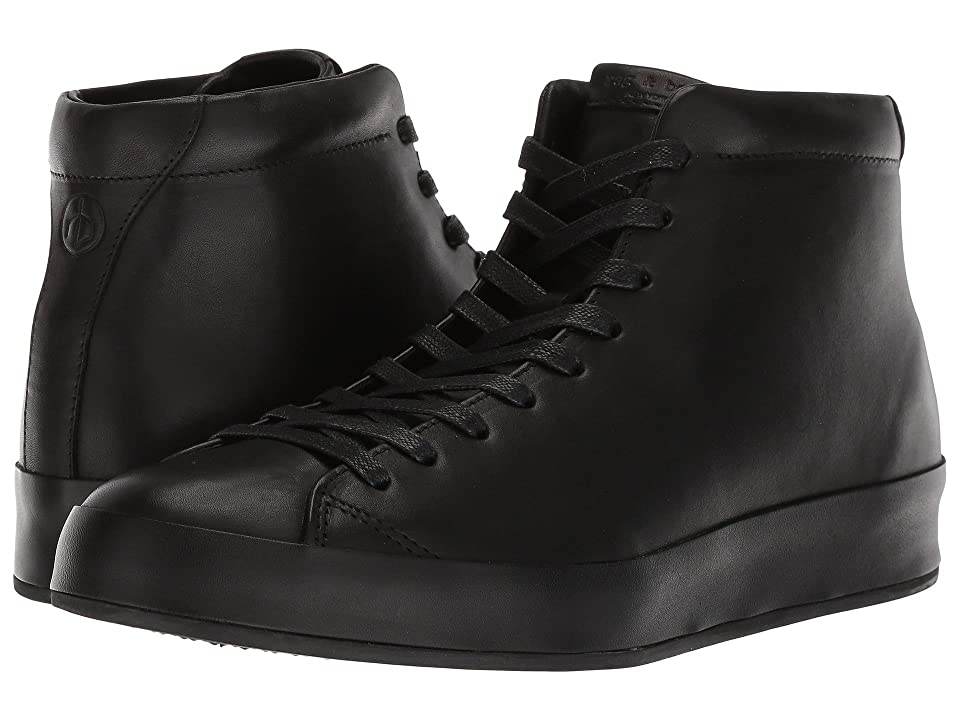 rag & bone RB1 High Top Sneakers (Black Smooth Nappa) Men