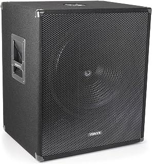 VONYX SMWBA18 Caisson de Basse 1000W • Subwoofer bi-Amplification 18'' • Sorties amplifiées • Mixage intégré • Echo Mode •...