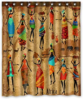 KXMDXA Vintage African Woman Polyester Fabric Shower Curtain 60x72 inch