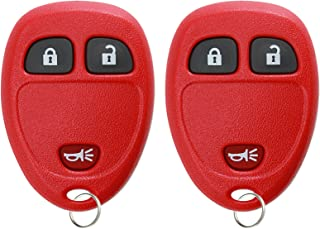 KeylessOption Keyless Entry Remote Control Car Key Fob Replacement for 15913420 Red (Pack of 2)