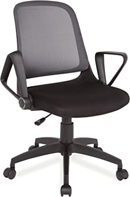 Leick Mesh Back Two-Tone Grey and Black Office Chair with Black Caster Base