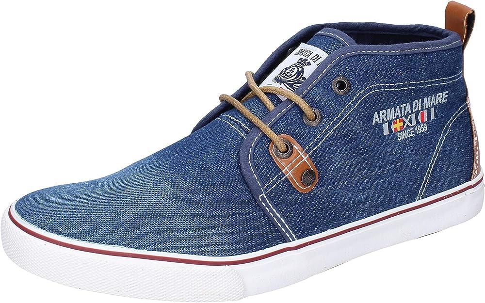 Armata di mare , scarpe per uomo ,  sneakers , in  tela blu