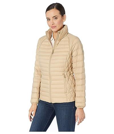 MICHAEL Michael Kors Zip Front Stand Collar Packable M822669M (Khaki) Women