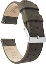 Barton Quick Release - Top Grain Leather Watch Band Strap - Choice of Width - 16mm, 18mm, 19mm, 20mm, 21mm 22mm, 23mm or 24mm