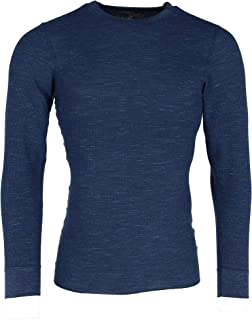 Hanes Men's Waffle Knit Space Dyed Thermal Shirt