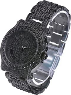Iced Bling Jet Black Watches Simulated Lab Diamond WM 7341 BK