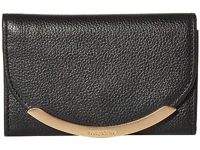 See by Chloe Lizzie Compact Wallet (Black) Handbags