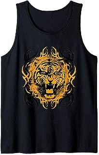 Gothic Style Roar Tiger Wildlife Biker Gift Tank Top