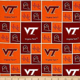 Sykel Enterprises NCAA Virginia Tech Box Logos Allover Fabric by The Yard