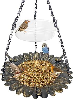 Bird Feeder Hanging Tray,Seed Tray Bird Bath Tray 2 Trays for Bird Feeders Attracting Pet Hummingbird Feeder for Outdoor Gard