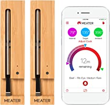 Voordelige Duo-Bundel Aanbieding: MEATER 2 Stuks   MEATER – 100% Draadloze Vleesthermometer: Geen Draden. Geen Gedoe. Houd...