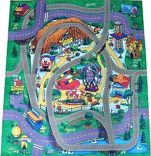 Amusement Park Felt Play Mat with Train Track Design by Silli Me