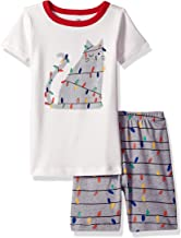 Gymboree Girls' Big 2-Piece Tight Fit Sleeve Short Bottoms Pajama Set