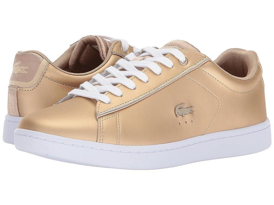 Lacoste Carnaby Evo 118 1 (Gold/White) Women