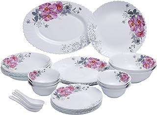 Royalford 33 Pcs Opal Ware Dinner Set