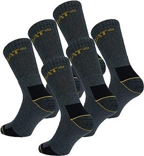 CAT Caterpillar Adults Heavy Duty Workwear Socks - Pack of 6