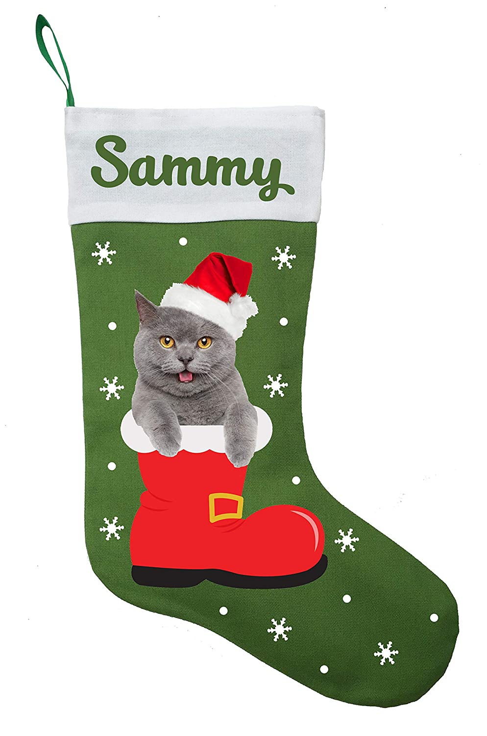 55% OFF Chartreux Large special price !! Christmas Stocking Custom Present
