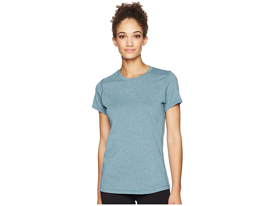 New Balance Heather Tech Tee (Light Petrol Heather) Women