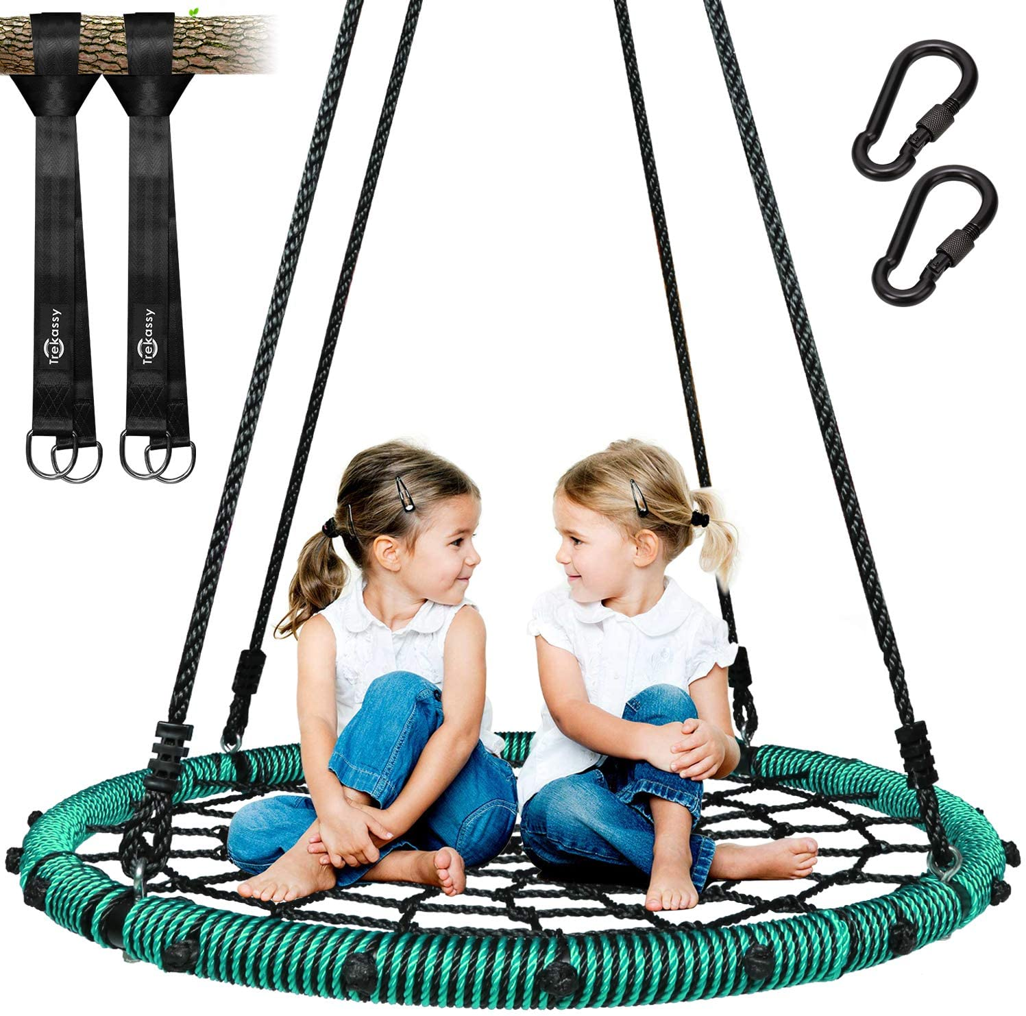 Recommended Trekassy Opening large release sale 750 lb Spider Web Swing 40 Kids with for Stee Tree inch