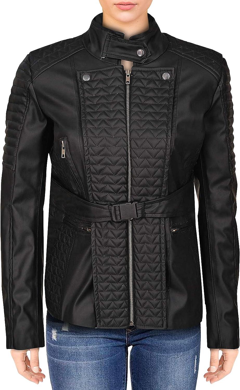TrendHoop The 100 Clarke Griffin Black Leather Jacket