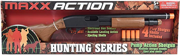 Sunny Days Entertainment Pump Action Shotgun – with Realistic Sounds and Ejecting Play Shells | Hunting Role Play Toy | Co...