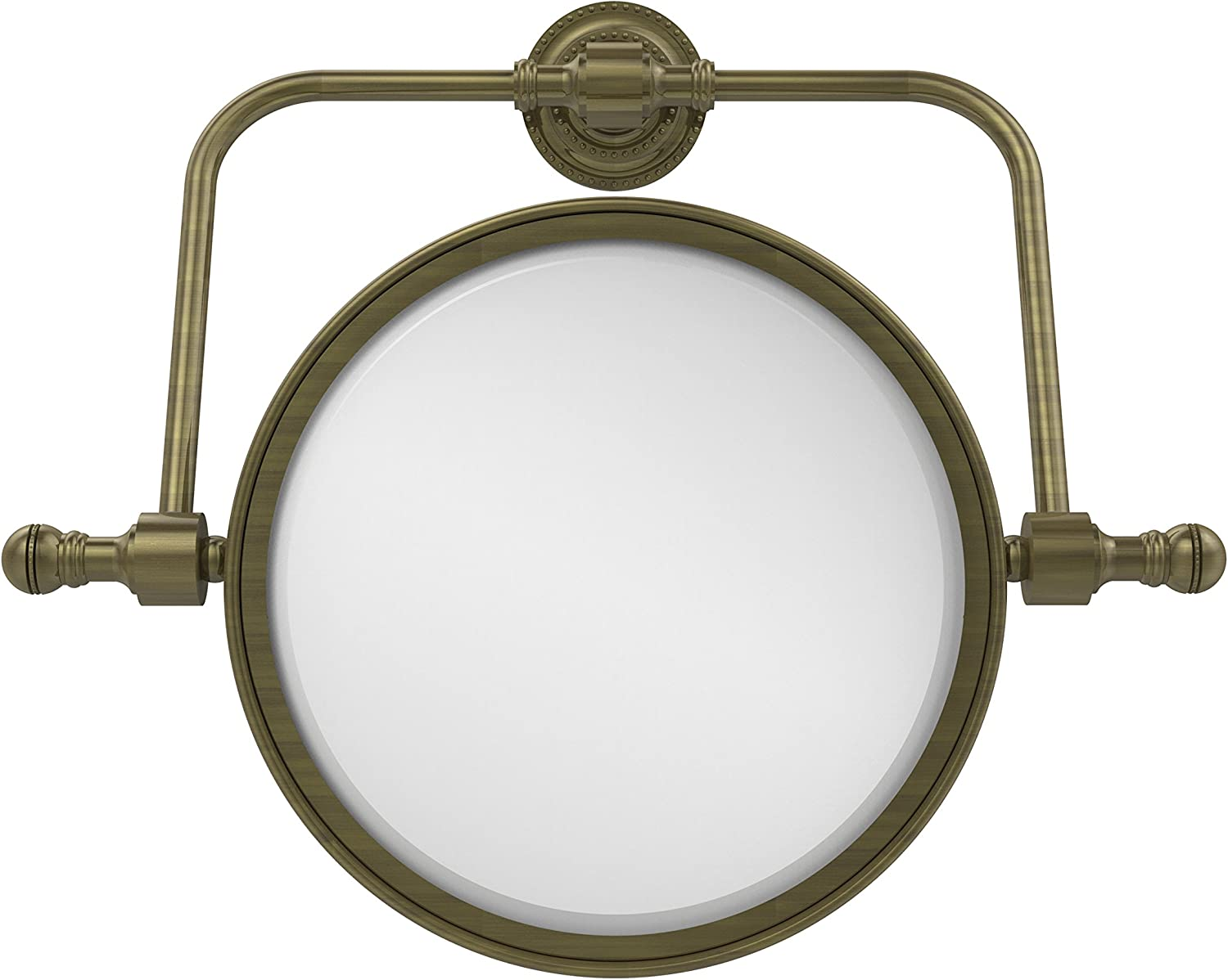 Allied Brass RDM-4 4X-ABR 8-Inch Swivel Mirror 4X Mag Antique Brass