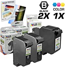 LD Remanufactured Ink Cartridge Replacements for HP 45 & HP 78 (2 Black, 1 Color, 3-Pack)