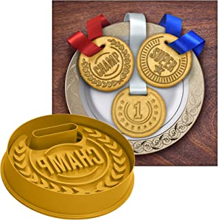 Molde para galletas con forma de medalla de 3 piezas, plástico, 1 paquete