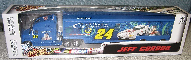 Jeff Gordon  24 Jeff Gordon Foundation Speed Racer Hauler Trailer Semi Tractor Trailer Truck Rig Transporter 1 64 Scale Winners Circle Edition by Winners Circle