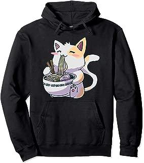 Ramen Anime Kawaii Neko Cat Pullover Hoodie