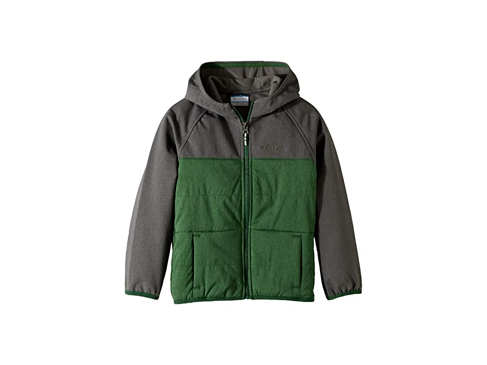 Columbia Kids Take A Hiketm Softshell Jacket (Little Kids/Big Kids) (Forest/Grill) Boy