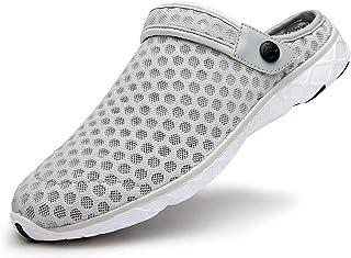 Zuecos Hombres Mujeres Unisex Zapatillas de Playa Sandalias Piscina Vernano Zapatos de Jardín Respirable Malla Casual Pant...
