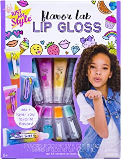 Just My Style Flavor Lab Lip Gloss by Horizon Group USA, DIY 4 Custom Lip Glosses By Mixing Colorful Flavors & Lip Shimmer...
