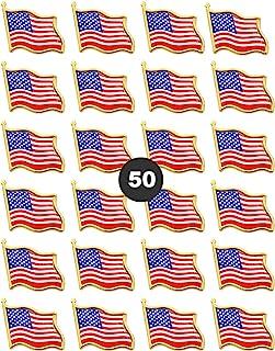 American Flag Lapel Pins - USA Waving Flag Pins United States US Badge Pins brooch-24/50/100 pack